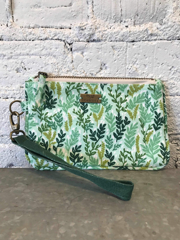 Mint Meadow Zipper Clutch-Bag-Yellow Umbrella