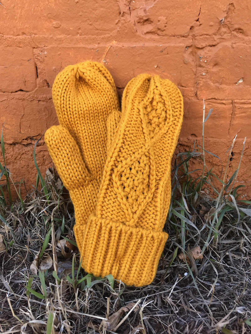 Mittens with Fleece Lining-Winter Knits-Yellow Umbrella