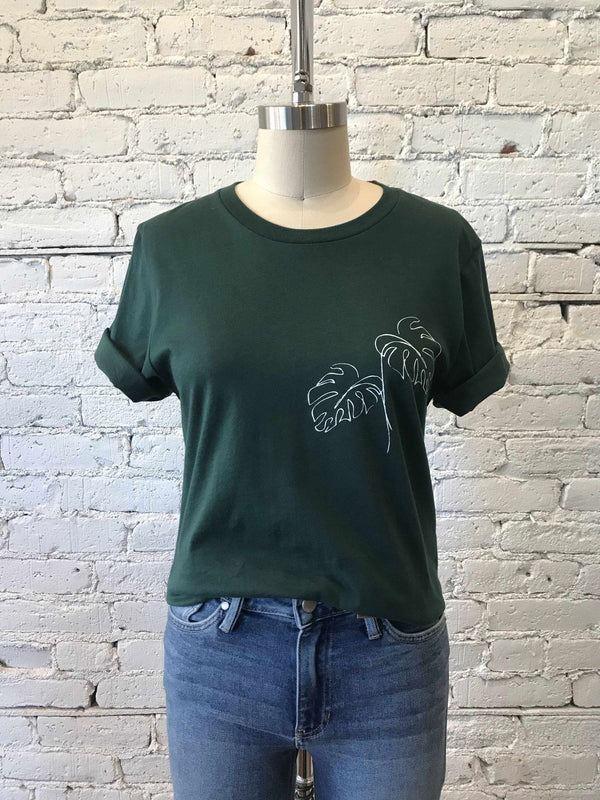 Monstera Plant Tee-Tee-Yellow Umbrella