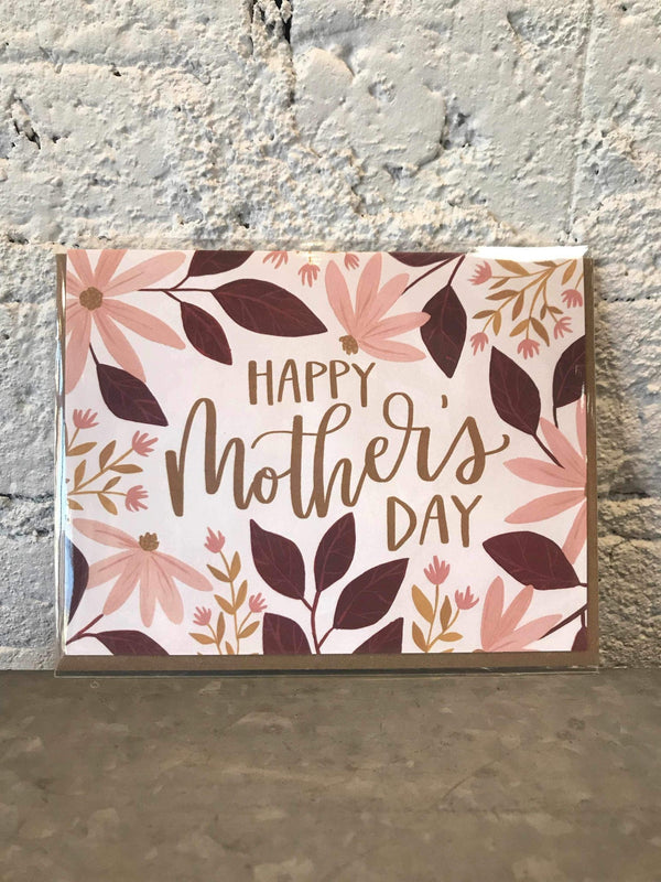 Mother's Day Coneflower Card-Card-Yellow Umbrella