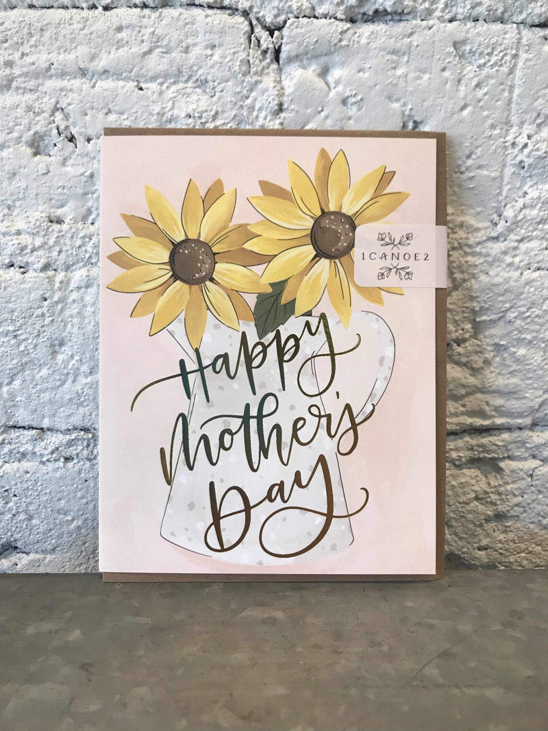 Mother's Day Sunflower Card-Card-Yellow Umbrella