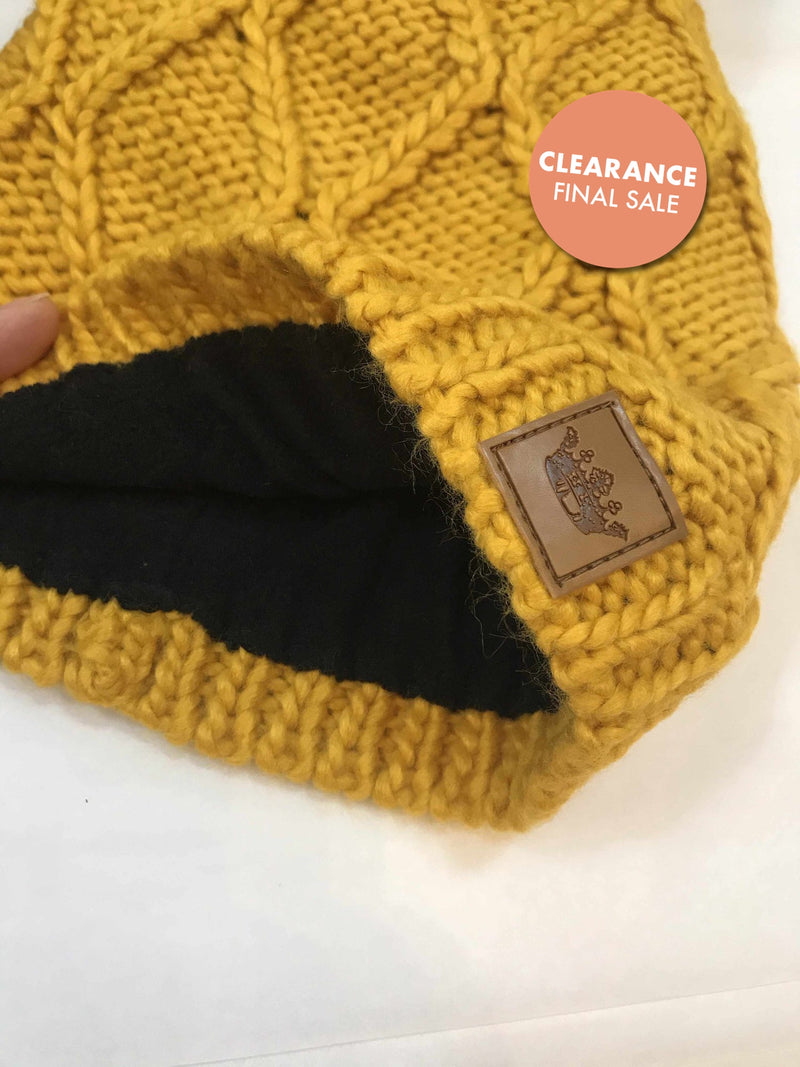 Mustard Pom Hat-Winter Knits-Yellow Umbrella
