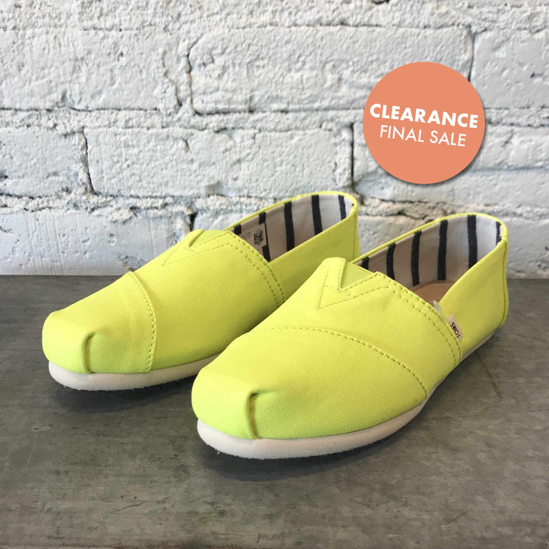 Neon Yellow Vivid Canvas-Shoes-Yellow Umbrella