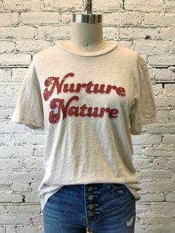 """Nurture Nature"" Graphic Tee-Graphic Top-Yellow Umbrella"