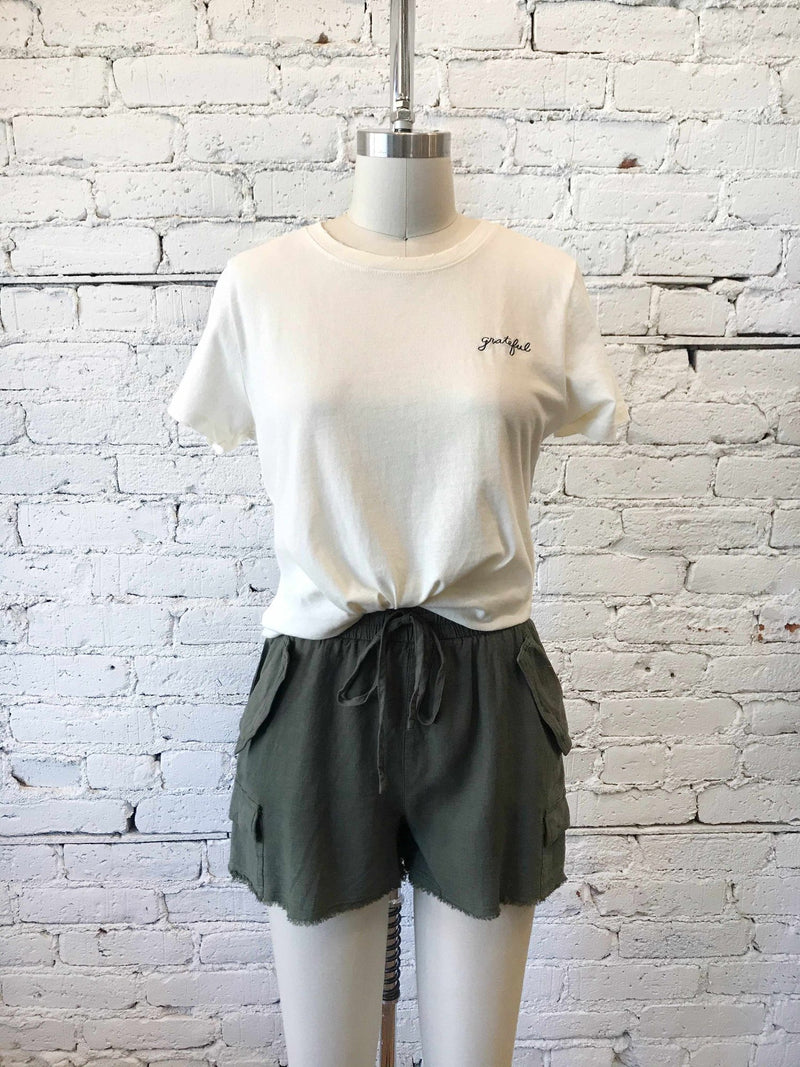 Olive Carry All Shorts-Shorts-Yellow Umbrella