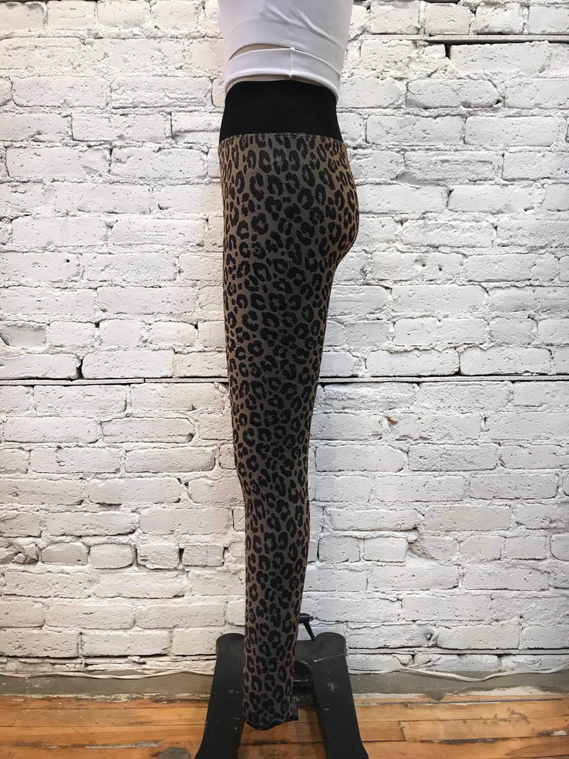 Ombre Leopard Leggings-Leggings-Yellow Umbrella