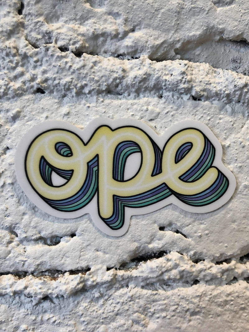 Ope Sticker-sticker-Yellow Umbrella