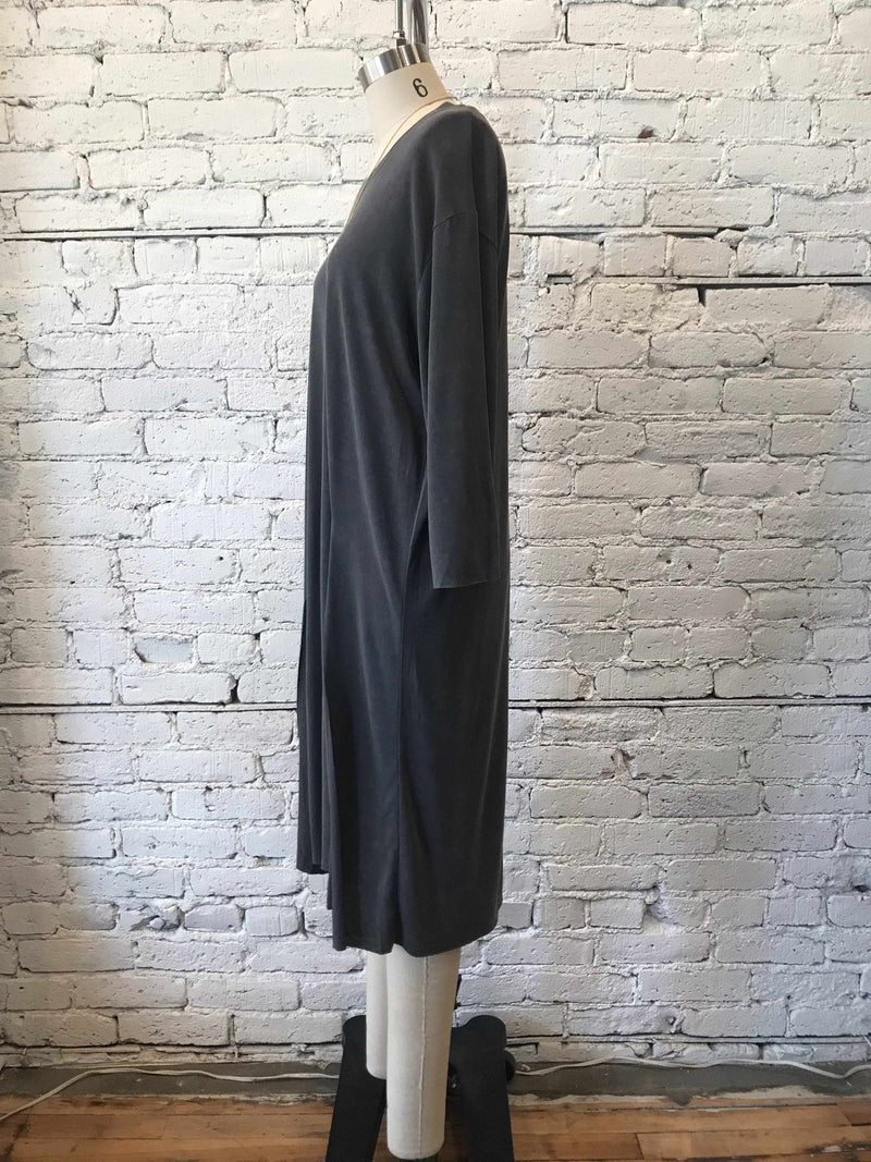 Oversized Tunic- Charcoal-tunic-Yellow Umbrella