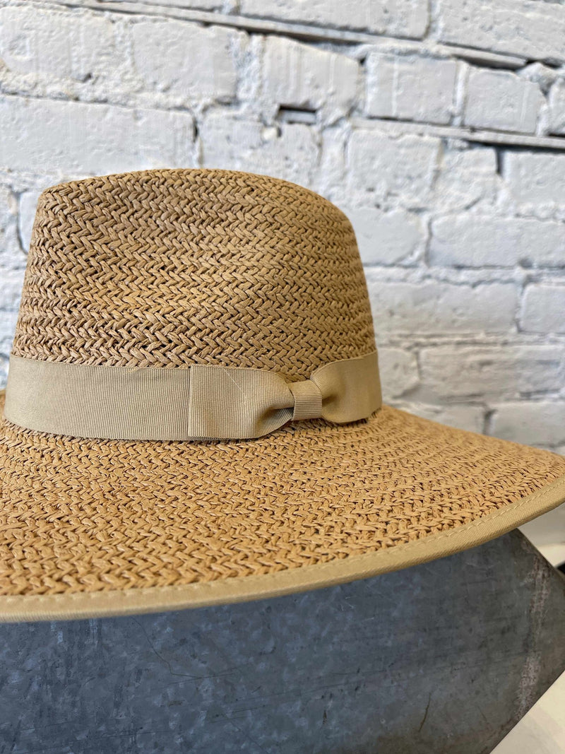 Paper Straw Hat-Hat-Yellow Umbrella