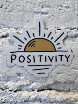 Positivity Sun Sticker-sticker-Yellow Umbrella