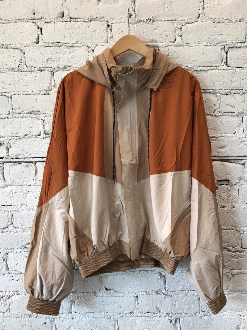 Rusty Road Color-block Windbreaker Jacket-jacket-Yellow Umbrella