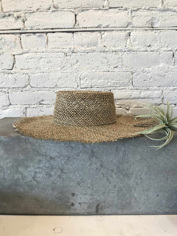 Seagrass Boater Hat-Hat-Yellow Umbrella