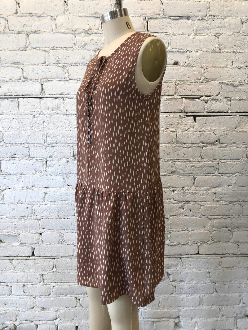 Sleeveless Drop Waisted Dress - Cinnamon-Dress-Yellow Umbrella