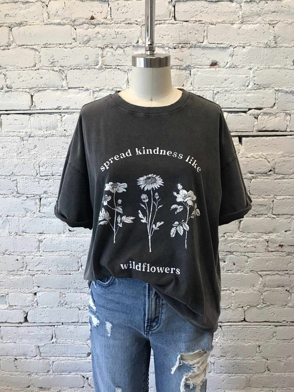 Spread Kindness Graphic Tee-Graphic tee-Yellow Umbrella