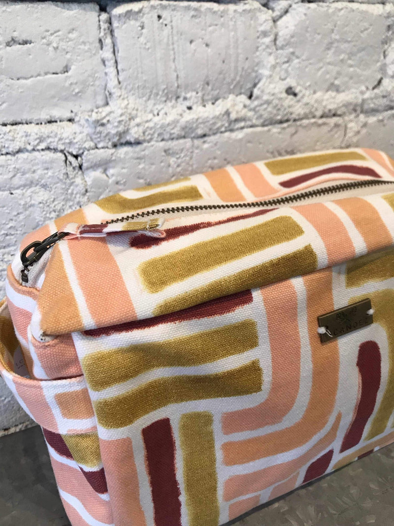 Sunset Stripe Box Tote-Bag-Yellow Umbrella