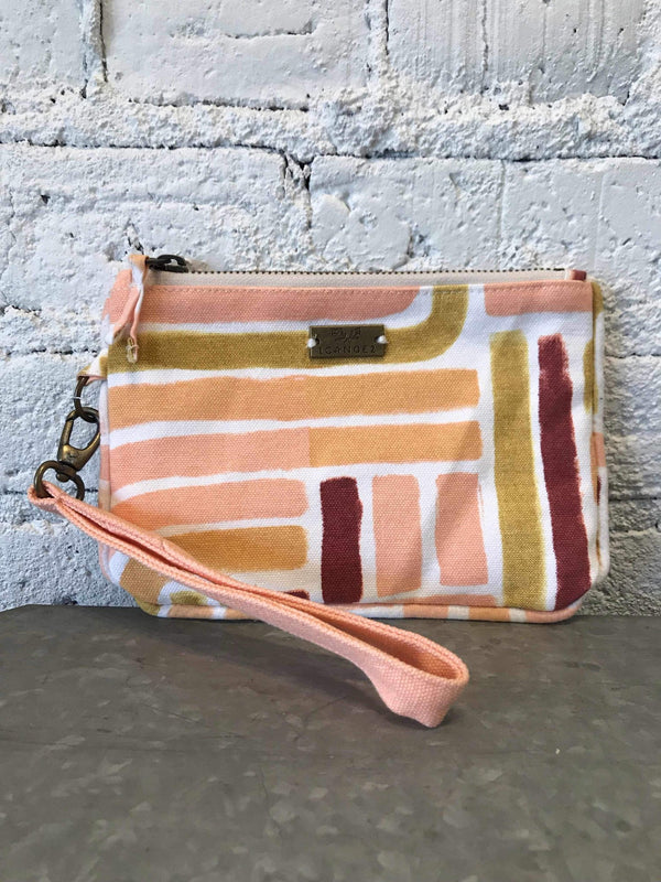 Sunset Stripe Zipper Clutch-Bag-Yellow Umbrella
