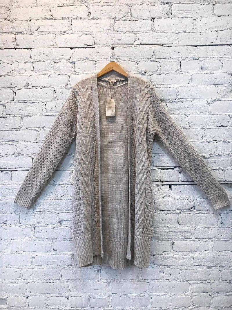 Taupe Multi-Knit Cardigan-cardigan-Yellow Umbrella