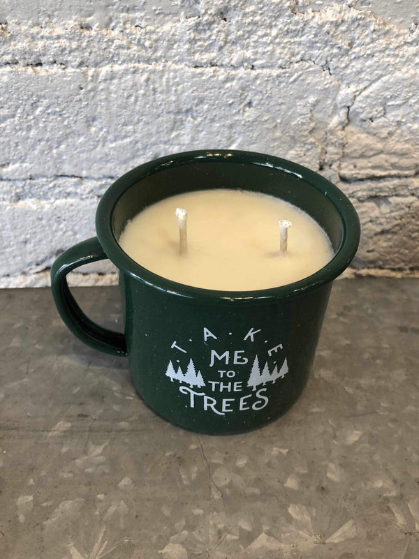 The Trees Enamel Cup Candle-Candles-Yellow Umbrella