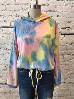 Tie-Dye Kickback Hoodie-Sweatshirt-Yellow Umbrella