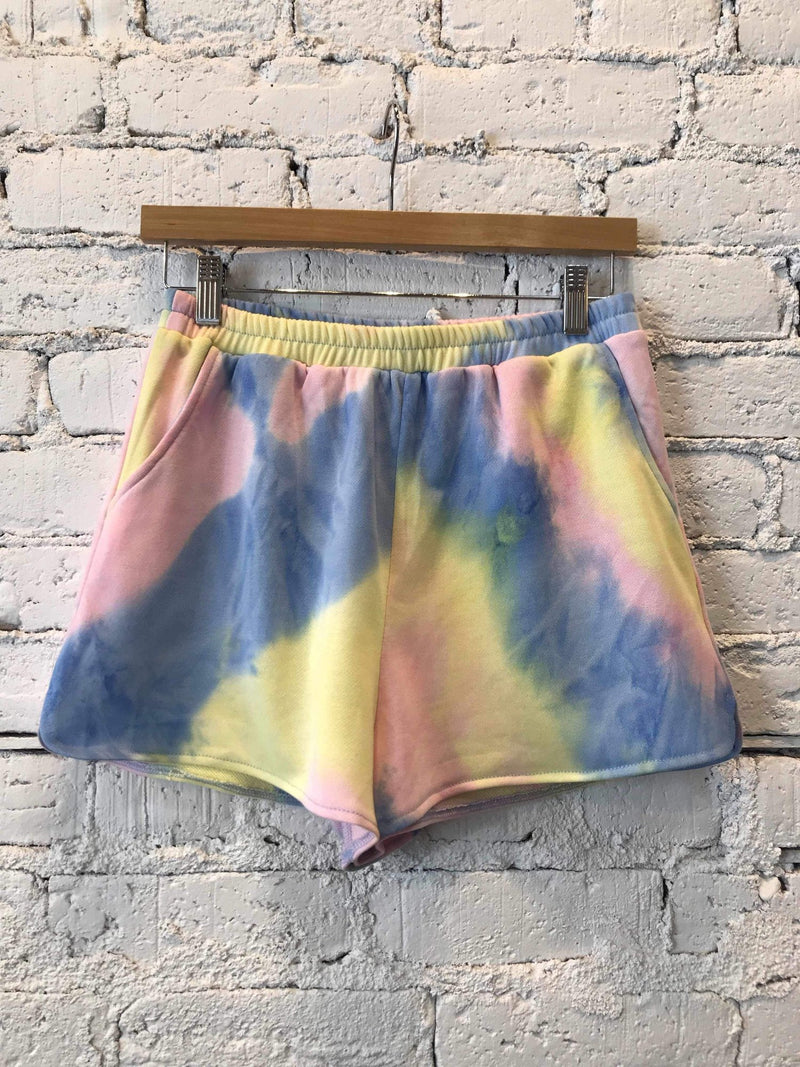 Tie-Dye Kickback Shorts-Shorts-Yellow Umbrella
