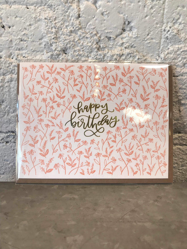 Tiny Floral Birthday Card-Cards-Yellow Umbrella