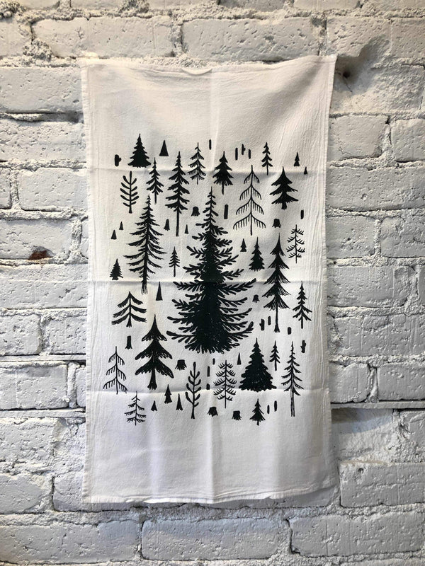 Trees Gear Tea Towel-Towel-Yellow Umbrella