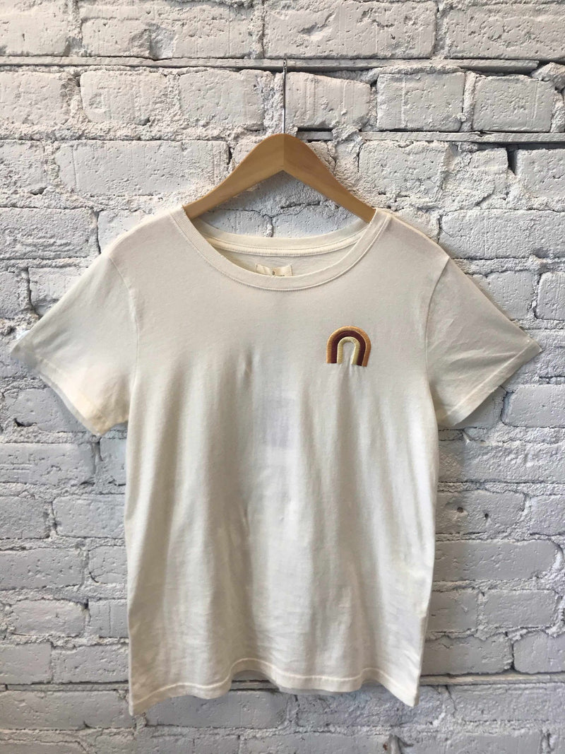 Vintage Rainbow Tee-t-shirt-Yellow Umbrella