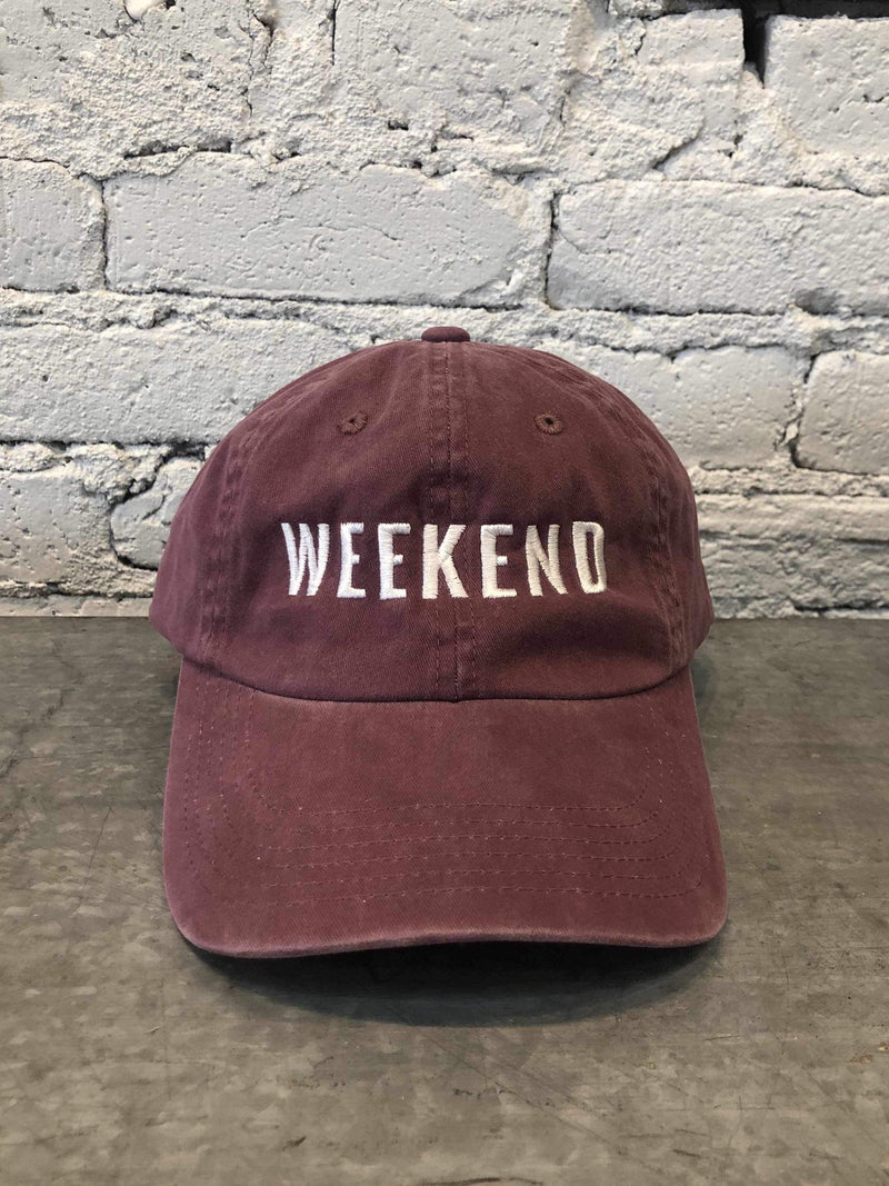 Weekend Baseball Cap-Hat-Yellow Umbrella