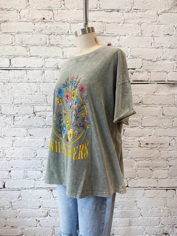 Wildflowers Graphic Tee-Graphic tee-Yellow Umbrella