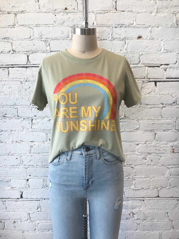 You Are My Sunshine Tee-Graphic tee-Yellow Umbrella