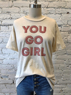 """You Go Girl"" Graphic Tee-Graphic Top-Yellow Umbrella"