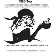 Load image into Gallery viewer, STRONGEST CBD TEAS for sale HEMP CBD BLACK TEA