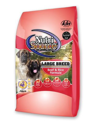 NutriSource Large Breed for Dogs Beef & Rice