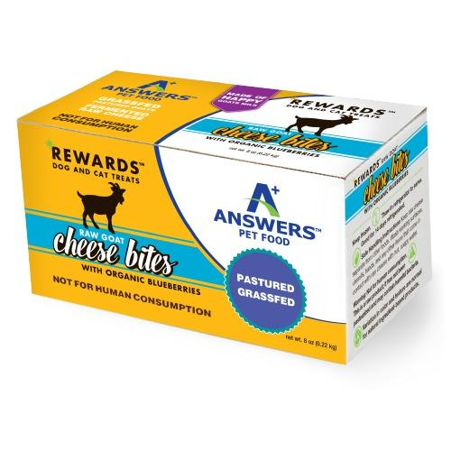 Answers Pet Raw Goat Cheese 8oz (approx. 36 pieces) - Bakersfield Pet Food Delivery