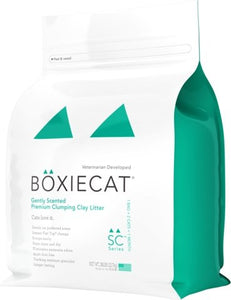 Boxiecat Premium Clumping Clay Cat Litter Gently Scented - Bakersfield Pet Food Delivery
