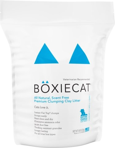 Boxiecat Scent-free Premium Clumping Clay Cat Litter - Bakersfield Pet Food Delivery