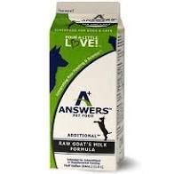 DONATION: Answers Pet Raw Goat's Milk - Bakersfield Pet Food Delivery