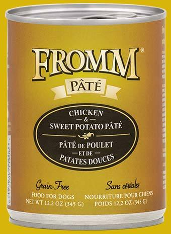 Fromm Chicken & Sweet Potato Pate 12oz - Bakersfield Pet Food Delivery