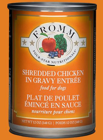 Fromm Four-Star Shredded Chicken Entree 12oz - Bakersfield Pet Food Delivery