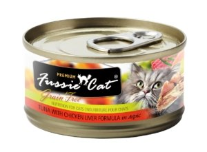 Fussie Cat Premium Tuna with Chicken Liver Formula In Aspic 2.8oz - Bakersfield Pet Food Delivery