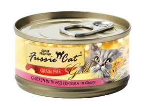 Fussie Cat Super Premium Chicken With Egg Formula In Gravy 2.8oz - Bakersfield Pet Food Delivery