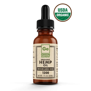 Green Element Organic Hemp CBD Oil For Pets 1200mg - Bakersfield Pet Food Delivery