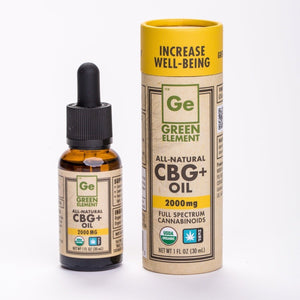 Green Element Organic Hemp CBG+ Oil FOR HUMANS 2000mg - Bakersfield Pet Food Delivery