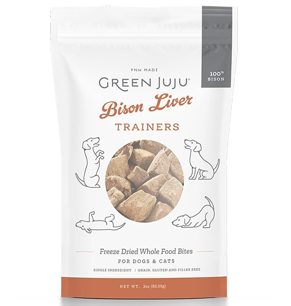 Green Juju Freeze Dried Bison Liver Trainers 3oz - Bakersfield Pet Food Delivery