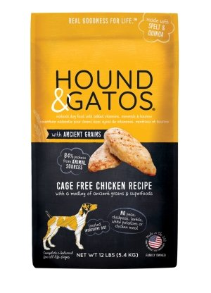 Hound & Gatos Ancient Grain Cage Free Chicken - Bakersfield Pet Food Delivery