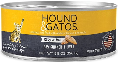 Hound & Gatos Grain Free 98% Chicken & Liver for Cat - Bakersfield Pet Food Delivery