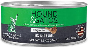 Hound & Gatos Grain Free 98% Duck & Liver for Cat - Bakersfield Pet Food Delivery