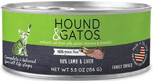Hound & Gatos Grain Free 98% Lamb & Liver for Cat - Bakersfield Pet Food Delivery