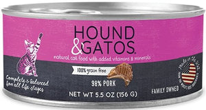 Hound & Gatos Grain Free 98% Pork for Cat - Bakersfield Pet Food Delivery