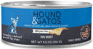 Hound & Gatos Grain Free 98% Rabbit for Cat - Bakersfield Pet Food Delivery